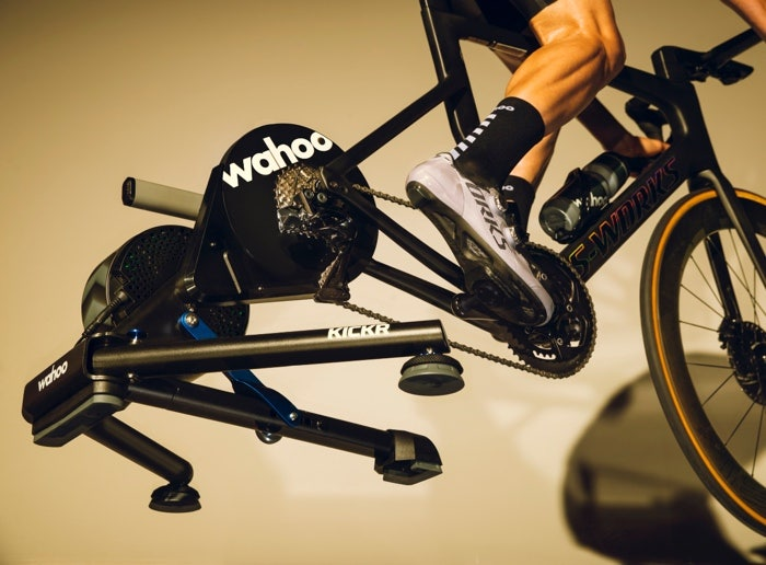 A closer look at the smart trainer in action